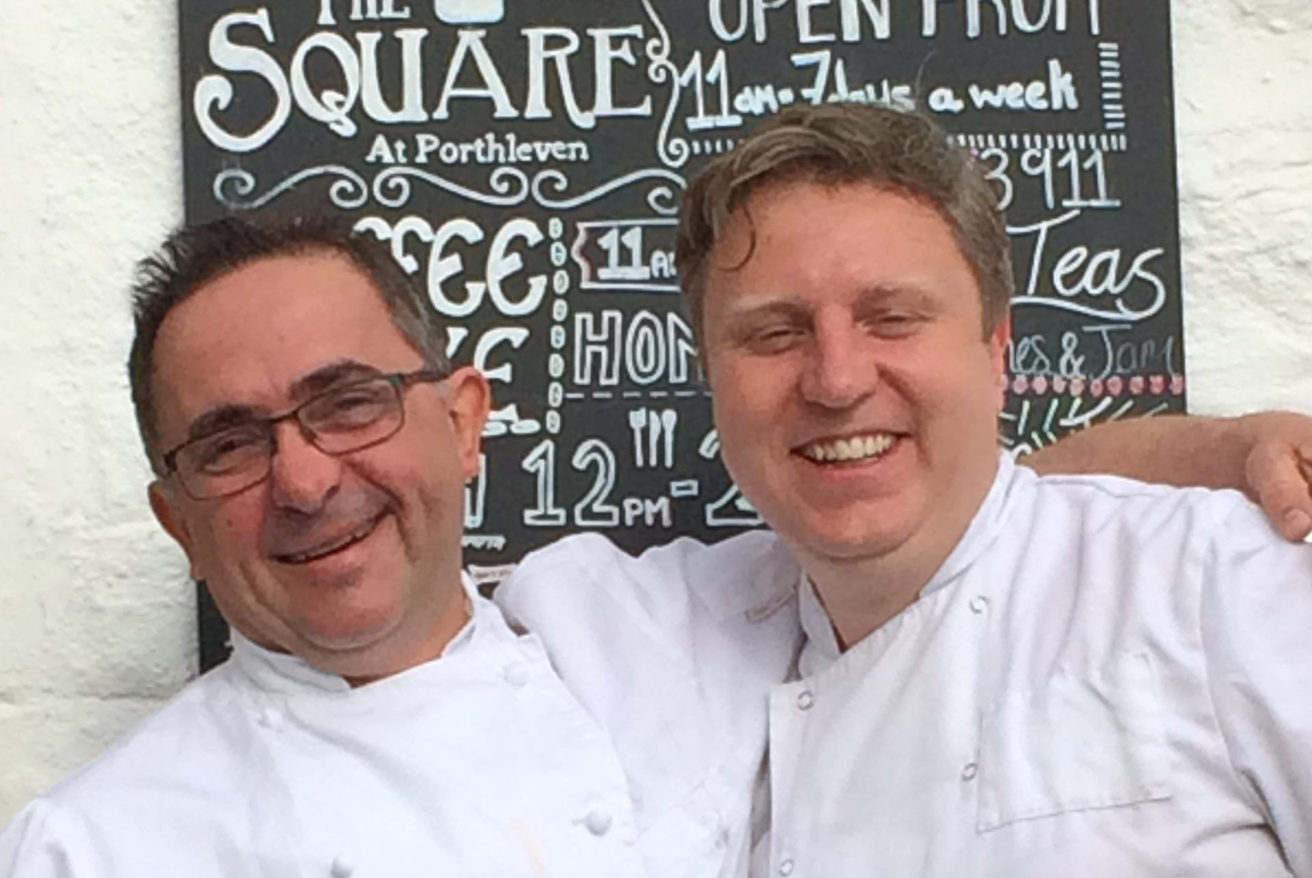 Chefs Stew Eddy and Bryok Williams from The Square, Porthleven