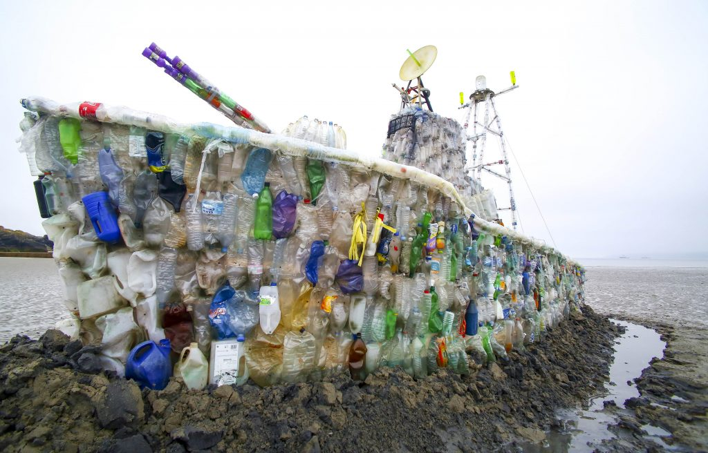 Plastic Bottle Ship (c) Surfers Against Sewage