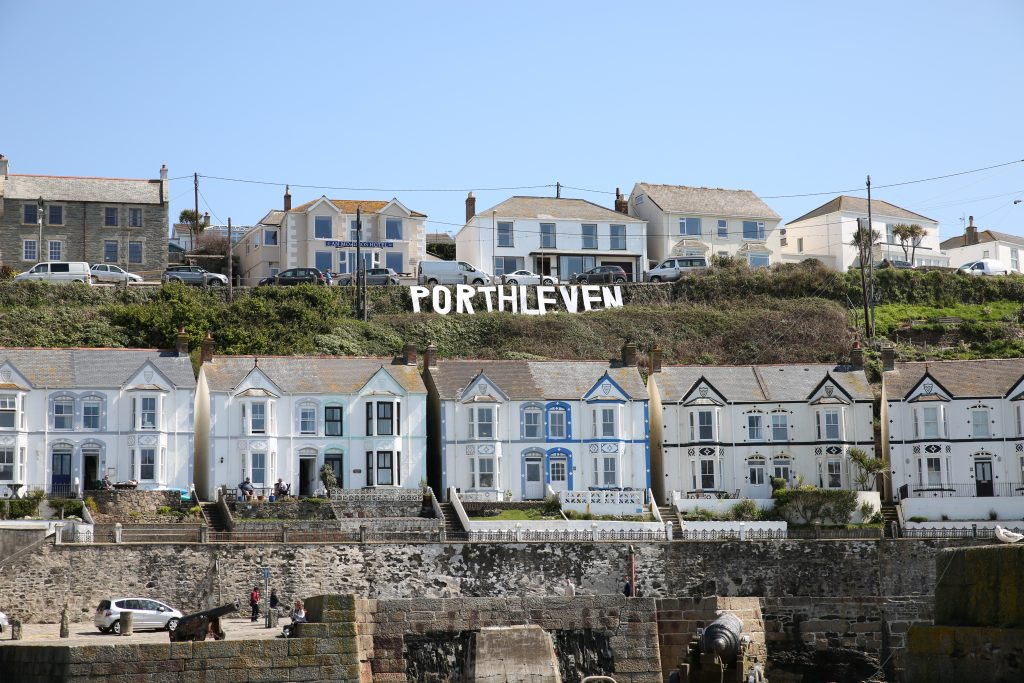 Hollywood sign at Porthleven Food Festival